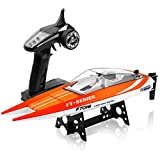 Remote Control Boat for Pool and Lake, SUPER JOY FT016 2.4Ghz RC Boats for Kids or Adults, High Speed Toys Boat for Boys or Girls