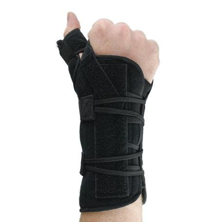 Universal Quick Lace Wrist and Thumb Spica Splint/Support Brace - Universal Size - Right