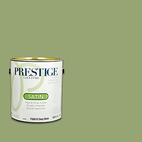 Prestige, Greens and Aquas 5 of 9, Interior Paint and Primer In One, 1-Gallon, Satin, Bermuda Grass