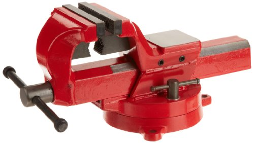 Yost Vises FSV-4 4' Heavy-Duty Forged Steel Bench Vise with 360-Degree Swivel Base