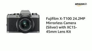 Fujifilm-X-T100-242-MP-Mirrorless-Camera-with-XC-15-45-mm-Lens-APS-C-Sensor-Electronic-Viewfinder-FaceEye-Detection-3-3-Way-Tilt-Touchscreen-4K-Video-Vlogging-Film-Simulations-Dark-Silver