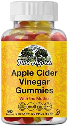 ACV Gummies - Raw Apple Cider Vinegar with Mother (Vegan and Non-GMO - 90 Gummies) 1