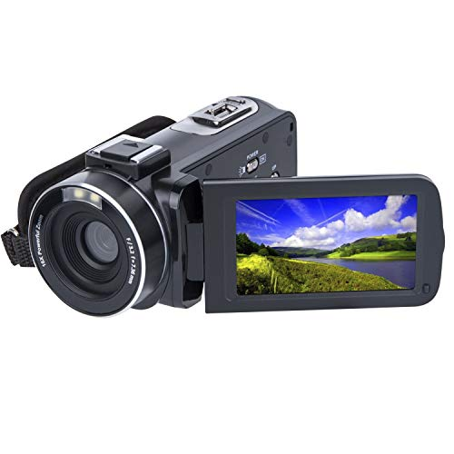 Video Camera Camcorder SOSUN HD 1080P 24.0MP 3.0 Inch LCD Rotatable Screen 16X Digital Zoom Camera Recorder