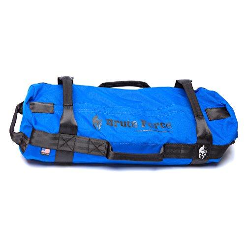 Brute Force Sandbags - Strongman - Blue - Heavy Duty Workouyt Sandbags for Fitness Exercise Sandbags Military Sandbags Heavy Sand Bags Fitness Sandbags Training Sandbags Tactical Sandbags