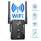 VICTONY WA305 WiFi Extender for 2.4G 300Mbps WiFi Signal Booster with 2 External Antennas WiFi Range Extender