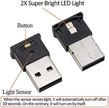 Mini USB LED RGB Light Brightness Adjustable 8 Color Changeable for Car, Laptop, Keyboard. Atmosphere Smart Night Lamp for Home Decoration ( DC : 5V ) (2 Item Package)