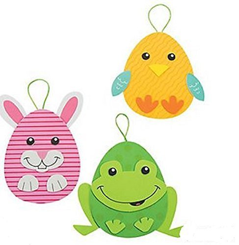 Foam Easter Egg Character Ornament Craft Kit - Makes 12 by Fun Express