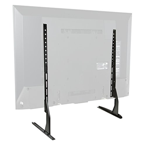 Mount Factory Modern Tabletop TV Stand - Universal Flat Screen Base Replacement for 24' 32' 40' 42' 50' 55' 60' 65' Screens