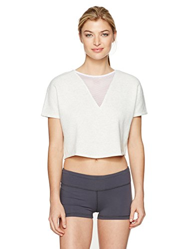 41ho1imfBqL Cropped, boxy silhouette, ideal to warm up in or wear to and from practice On-trend oversized mesh triangle panel offers breathability
