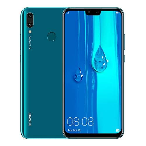"Huawei Y9 2019 JKM-LX3 6.5"" HiSilicon Kirin 710 64GB 3GB RAM Dual SIM A-GPS Fingerprint -Glonass No Warranty US (Blue)"