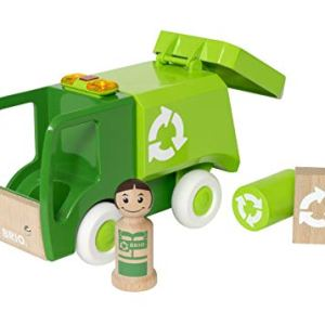 BRIO My Home Town – 30278 Light & Sound Garbage Truck | 4 Piece Toy for Kids Ages 18 Months and Up 41hpcfc0xaL