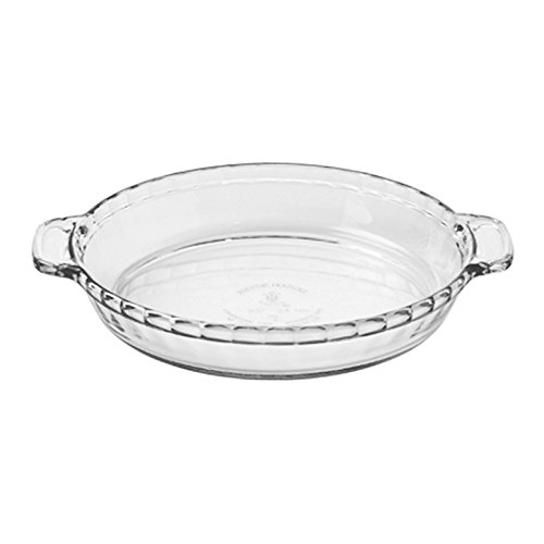 Anchor Hocking 81214L11 Oven Basics Deep Pie Dish, 9.5', Clear