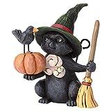 Enesco Jim Shore Heartwood Creek Mini Witch Cat w/Pumpkin