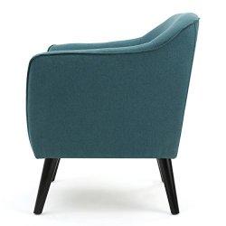 Christopher Knight Home Alphonse Fabric Arm Chair, Dark Teal