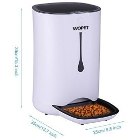WOPET-Automatic-Pet-Feeder-Food-Dispenser-for-Cats-and-DogsFeatures-Distribution-Alarms-Portion-Control-Voice-Recorder-Programmable-Timer-for-up-to-4-Meals-per-Day