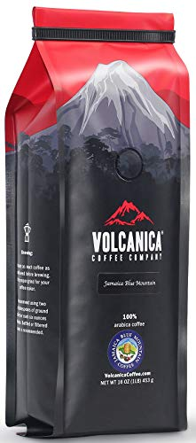 Jamaican Blue Mountain Coffee, 100% Pure, Whole Bean, Fresh Roasted, 16-ounce