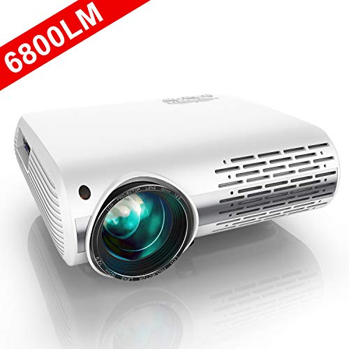 YABER-Native-1080P-Projector-6800-Lux-Upgrade-Full-HD-Video-Projector-1920-x-1080-50-4D-Keystone-Correction-Support-4k-ZoomLCD-LED-Home-Theater-Projector-Compatible-with-PhonePCTV-BoxPS4
