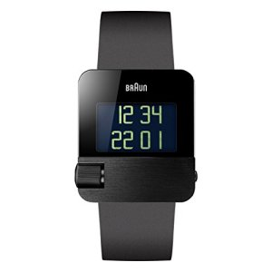 Braun Men's BN0106BKBKG Prestige Digital Digital Display Swiss Quartz Black Watch