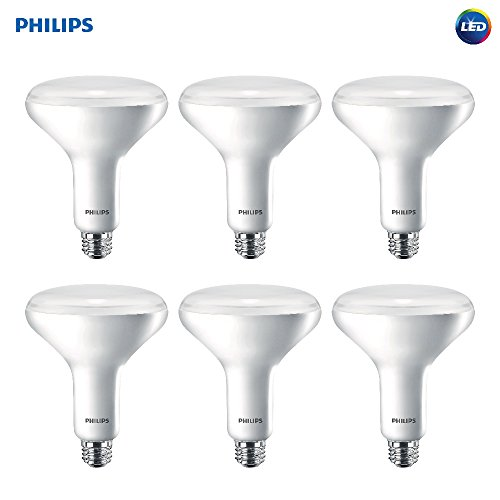 Philips LED Dimmable BR40 Soft White Light Bulb with Warm Glow Effect 800-Lumen, 2700-2200-Kelvin, 10-Watt (65-Watt Equivalent), E26 Base, Frosted, 6-Pack