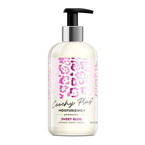 Coochy Plus Intimate Shaving Cream SWEET BLISS For Pubic, Bikini Line, Armpit and more - Rash-Free With Patent-Pending MOISTURIZING+ Formula – Prevents Razor Burns & Bumps, In-Grown Hairs, Itchiness