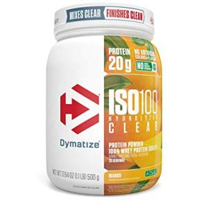 Dymatize Nutrition ISO 100 Clear Powder 17.64 OZ (1.1 LB) 500 g Mango