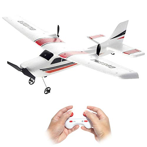 Remote Control Plane, 2.4Ghz 2 Channel Remote Control Airplane Ready to Fly, Durable EPP Foam RC Aircraft Builted in 6-Axis Gyro, Super Funny Easy Fly RC Plane for Kids Boys Beginner