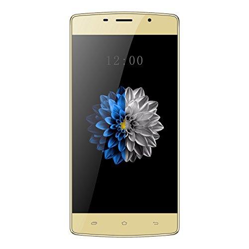 "Kenxinda X7 Uncloked Dual-Sim Smartphone 5.0"" Display 3550mAh battery Andoid 7.0 OS Chinese 4G Smartphone (Gold)"
