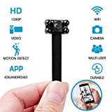Henkelion Spy Hidden Camera WiFi Wireless with Night Vision, 1080P Mini Small Hidden Camera, Portable Tiny Spy Cam for Motion Detection, Security Camera IP Camera for Home Remote Action Video Recorder