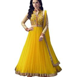 Karva Fashion Women's Georgette Semi-stitched Salwar Suit