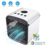 2019 Portable Air Conditioner Fan,4 in1 Personal Mini Evaporative Air Cooler Desktop Cooling Fan with 7 Colors LED Backlight,Super Quiet Humidifier Air Circulator Cooler for Home/Office/Room/Outdoors