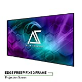Akia Screens 100' Edge Free Fixed Projector Screen 100 inch Diagonal 16:9 Thin Edge Projection Screen 8K 4K Ultra HD 3D Ready Movie Theater Home Theater AK-NB100H1