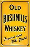"Old Bushmills Whiskey (yellow) embossed steel sign 12"" x 8"" (hi 3020)"