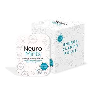 Neuro Mints Nootropic Energy Mints   Caffeine + L-theanine + B Vitamins   Sugar Free + Gluten free + Vegan (6 Pack = 72… 16