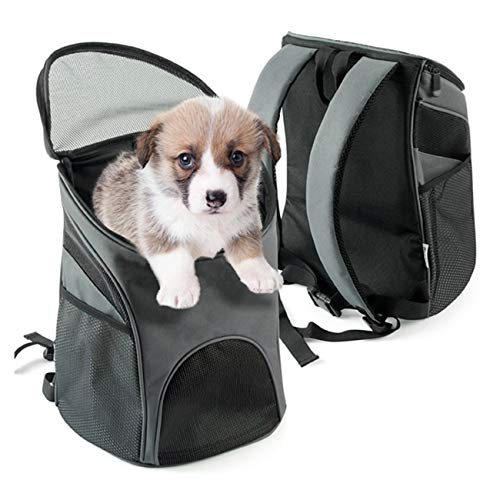 Dog Carrier Backpack, Pet Carrier Bag with Mesh for Small Dogs Cats Puppies Comfort Cat Backpack Bag Airline Approved for Hiking Travel Camping Outdoor 1