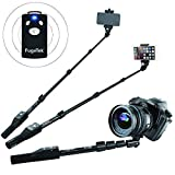 Fugetek FT-568 Professional High End Selfie Stick Monopod, For Apple, Android, & DLSR Cameras, Removable Wireless Bluetooth Remote (Black)
