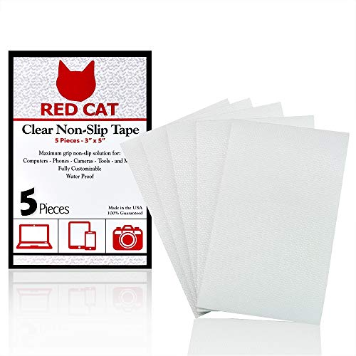 Red Cat Premium Quality Anti Slip Grip Tape - Get a Grip on Electronics, Tools, and Fragile Items - Professional Grade Adhesive for Maximum Stability, Keep Fragile Items from Slipping - Non Slip Tape