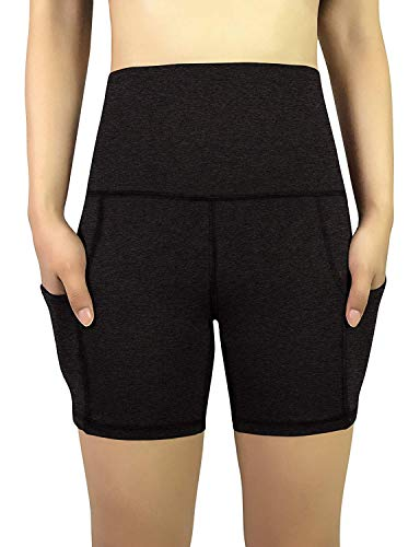 REETOYO Women's High Waist Tummy Control Workout Running 4 Way Stretch Yoga Shorts Side Pockets 15 Fashion Online Shop gifts for her gifts for him womens full figure