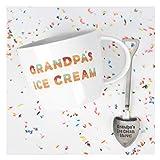 Josephine on Caffeine Gifts for Grandpa - Grandpa's Ice Cream Bowl and Engraved Spoon Grandpa's Ice Cream Shovel - Ideal or Birthday Gift