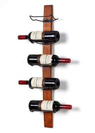 Rustic Wooden Wall-Mounted Wine Rack