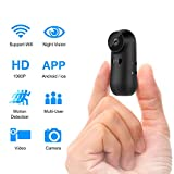 Spy Camera, Mini Hidden Cameras WBESEV Wi-Fi Camera 1080P HD Wireless Portable Small Nanny Cam with Night Vision Motion Detection, Latest Covert Security Camera Indoor Outdoor