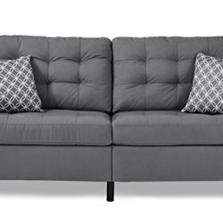 Homelegance Sinclair 72″ Fabric Sofa, Gray