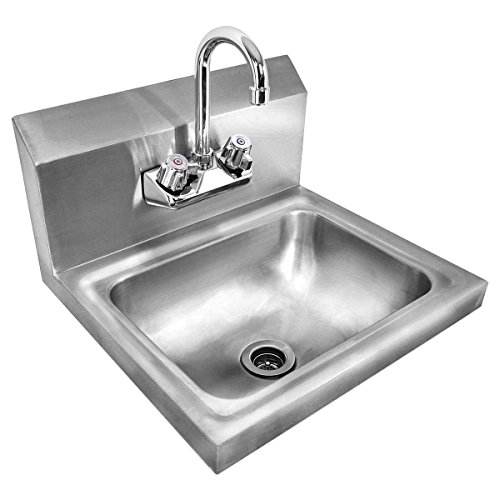 Giantex Stainless Steel Hand Wash Sink Wall Mount Commercial Kitchen ...