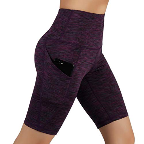 ODODOS High Waist Out Pocket Yoga Short Tummy Control Workout Running Athletic Non See-Through Yoga Shorts 15 Fashion Online Shop gifts for her gifts for him womens full figure