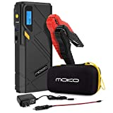 MoKo 1200A Peak Car Jump Starter, 12000mAh Portable Power Bank Battery Booster (Up to 6.5L Gas, 5.2L Diesel Engine), with 2 USB Ports, Fast Charging and Emergency LED Flashlight - Yellow