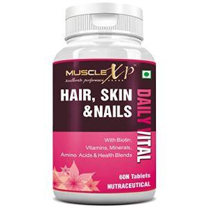 MuscleXP Hair, Skin & Nails Daily Vital MultiVitamin with Biotin - 60 Tablets 29  MuscleXP Hair, Skin & Nails Daily Vital MultiVitamin with Biotin – 60 Tablets 41it5xwRAHL
