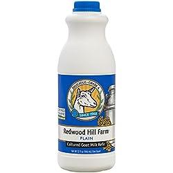 Redwood Hill Farm Probiotic Kefir, Plain, 32 Ounce (Pack of 6)