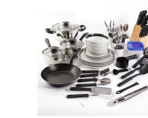 Essential Home Total Kitchen Cookware Utensil  Pc Combo