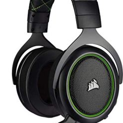 Corsair HS50 PRO Stereo Gaming Headset (Adjustable Memory Foam Ear Cups, Lightweight, Noise-Cancelling Detachable Microphone with PC, PS4, Xbox One, Switch and Mobile Compatibility) – Green