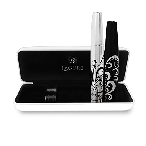 3D Fiber Lash Mascara - Best for Thickening & Lengthening Eyelashes - Premium Quality, Last All Day, Waterproof, Smudge proof, Hypoallergenic - Includes Carry Case