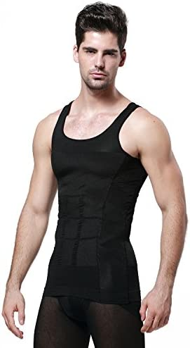 GKVK Mens Slimming Body Shaper Vest Shirt Abs Abdomen Slim 11